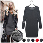 2016 Women Autumn Winter Warm Slim Bodycon Cocktail Dress Long Sleeve Mini Dress