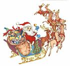 Christmas Santa Sleigh Reindeer Select-A-Size Waterslide Ceramic Decals Xx image