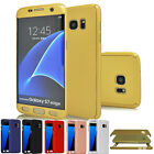 New 360° Full Coverage Hybrid Acrylic Hard Case Cover For Samsung Galaxy S7 Edge