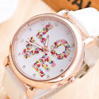 Fashion Couple LOVE Casual Leather Stainless Steel Analog Quartz Wrist Watch