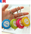 Portable Key Chain 1.5m Band Tape Pull Clothing Tailor Sewing Measure Soft Ruler