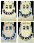 Free Tibetan silver Snake Hasp Clavicle Bib Chain Earrings necklace sets 4color