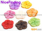 6 Pcs Flower Flat MOP Shell Stone Beads For Jewelry Making Necklace Bracelet DIY