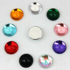 100PCS 10mm Round Acrylic Rhinestones Flatback Beads Sew on 2 holes ZZ463