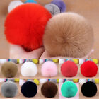1Pc Solid Keyring Pompom Soft Keychain Handbag Ball Fur Fluffy Charm Dangle 8CM