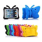 New Kids Safe Butterfly Rubber Foam Shockproof Stand Case Cover For iPad Series