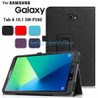 "Smart Cover Leather Sleep/Wake Case For Samsung Galaxy Tab A 10.1"" SM-P580"