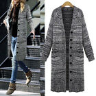 Women's Thicken Large Yards Fat Long Loose Knitted Cardigan Sweater Coat Jacket