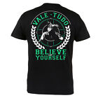 "T-SHIRT MMA VALETUDO ""BELIVE IN YOURSELF"" FOR MMA TRAINING GYM 100% COTTON BLACK"