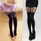 Sexy Women Girl Temptation Sheer Mock Suspender Tights Pantyhose Stockings Pants