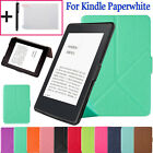 "Leather Smart Case Stand Cover For Amazon Kindle Paperwhite 6"" 2016  +Free Gifts"
