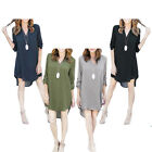 Women Chiffon Long Sleeve V-neck Tops Blouse Summer Casual Loose Party Dress New
