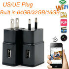 WIFI Built-in 64GB/32GB/16GB 1080P Hidden Camera Wall Charger Plug Security  DVR