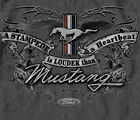 Ford Mustang Stampede Is Louder than Heartbeat Emblem GRAY Adult T-shirt