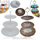 3 Tier Round Circle Ceramic Table Food Display Cup Cake Stand Holder Baking Rack
