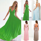 Womens Evening Bridemaid Gown Convertible Multi Way Wraps Party Long Maxi Dress