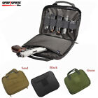"12""x 9"" Cell Padded Dual Pistol Gun Mag Pouch Carry Attache Range Case Bag 3Colo"