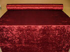 """Bling"" Claret Crushed Velvet Fabric Curtain Upholstery Cushions Blinds"