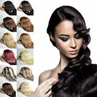 """USPS Express New 12"""" Clip In Remy Real Human Hair Extensions Straight 70g/set"""