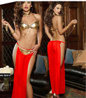 Belly Dance Costume Dress Chain Outfit Set Hip Chiffon skirt Bollywood Carnival