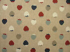 Nautical Range Strawberries Linen Look Fabric Curtains Upholstery Patchwork
