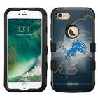 Detroit Lions Hybrid Rugged Impact Armor Case for iPhone 5/5s/SE/6/6s/7/Plus $19.95 USD on eBay
