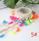 2Y Mix-color Tassel lace Trim Wedding Bridal Ribbon Sewing Clothing accessories