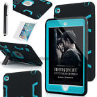 For iPad mini 2/3/4/5/6 Pro Shockproof Heavy Duty Rubber W/Hard Stand Case Cover