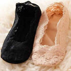 New Women Cotton Lace Socks Antiskid Invisible Liner Socks Low Cut Socks Boat JR