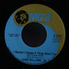 HANK WILLIAMS, JR.: I Wouldn't Change A Thing About You / No Meaning And No End