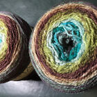 Freia Fine Handpaint Flux Lace- Self Striping Gorgeous Yarn- Hand Dyed in the US