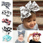 Toddler Kids Girl Baby Large Bow Headband Hair Band Headwear Head Wrap Cotton