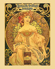 Fashion Lady Chocolate Amatller Barcelona Spain Mucha Vintage Poster FREE S/H