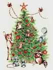 Christmas Tree Forest Animals Select-A-Size Waterslide Ceramic Decals Xx