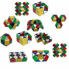 COLOURED PUZZLE SNAKE PARTY BAG TOY 3D MAGIC CUBE TWIST NOVELTY GIFT