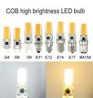 1/5/10x COB G4/G8/G9/E11/E12/E14/E17/BA15d Led Dimmable bulb 110/220V White/Warm