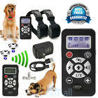 Waterproof Rechargeable LCD 800 Yard Shock Vibra Remote 2 Dog Training Collar