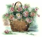 Basket of Pink Roses Select-A-Size Waterslide Ceramic Decals Xx