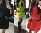 New Women's Long Sleeve Casual Summer Cocktail Party Evening Short Slim Dress