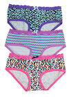 Joe Boxer Assorted 3-Pack Lace Waist Cotton Hipster Women's Panties Large #1242