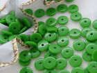 8mm 200/300/500/1000/2000pcs  GREEN ROUND DISC ACRYLIC BEADS AB81122