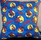 "Pillow Child Home Decor Spider-Man Super Hero Web Moon Blue Red 18"" by 18"" New"