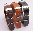 (16 18 20 22 24)MM PU LEATHER SMOOTH MILITARY ARMY WATCH STRAP BAND BUCKL 3pcs