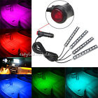 Car Interior Red 4X9 LED Footwell Floor Decor Atmosphere Light Neon Strips New