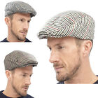 Mens Ladies Unisex Tweed Flat Peaked Cap Fully Lined Fashionable Traditional Hat