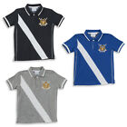 Boys Applique Stripe Polo Top T Shirt