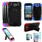 Phone Case For LG Optimus Zone 3 4g LTE / LG K4 LTE Cover Tempered Glass Screen