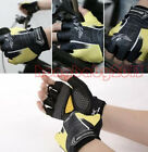 New Cycling Bike Comfortable Lycra Bicycle Sports GEL Palm Pad Half Finger Glove