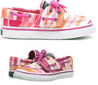 Sperry Toddler Kids Bahama Pink Watercolour Canvas Slip on Pump Trainer Shoe New