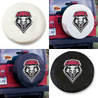 New Mexico Lobos Exact Fit Size Black or White Vinyl Spare Tire Cover